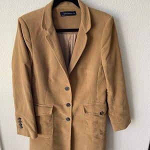 Zara Woman XL Long Beige/Tan Coat